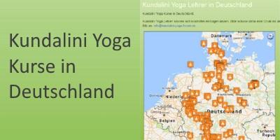 Deutschlandkarte Yogalehrer